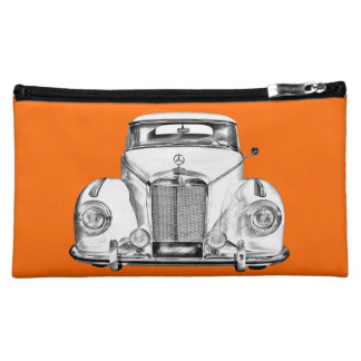 Mercedes Benz 300 Luxury Car Illustration Cosmetic Bags