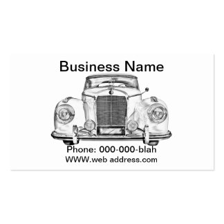 Mercedes Benz 300 Luxury Car Illustration Business Card Templates