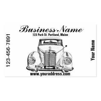Mercedes Benz 300 Luxury Car Illustration Business Card