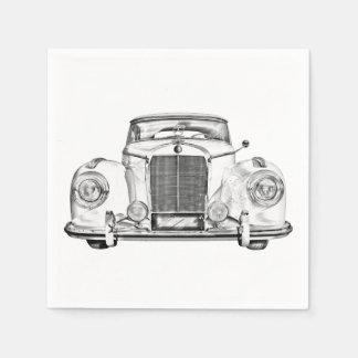 Mercedes Benz 300 Luxury Car Illustration Paper Napkin