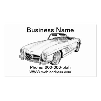Mercedes Benz 300 SL Convertible Illustration Business Card