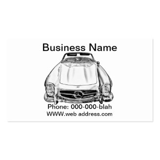 Mercedes Benz 300 SL Convertible Illustration Business Cards