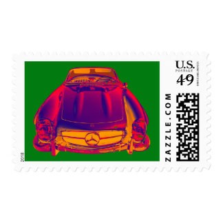Mercedes Benz 300 SL Convertible Pop Art Postage