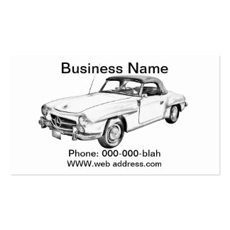 Mercedes Benz 300 sl Illustration Business Card Template