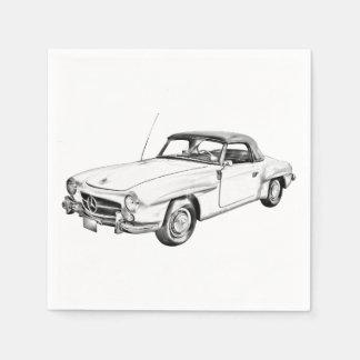 Mercedes Benz 300 sl Illustration Paper Napkin