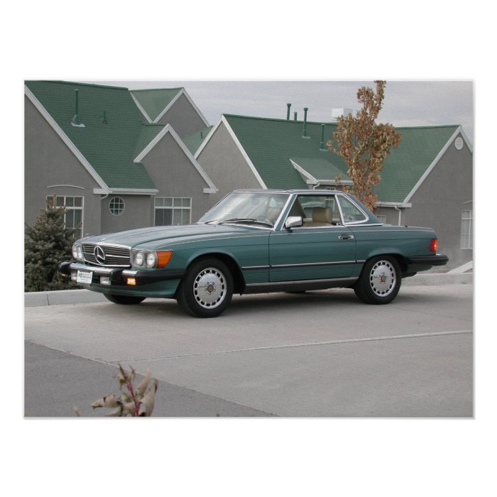 Mercedes benz 560 sl poster zazzle for Mercedes benz poster