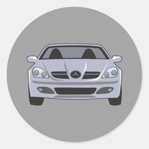 Mercedes benz classic round sticker zazzle for A mercedes benz product sticker