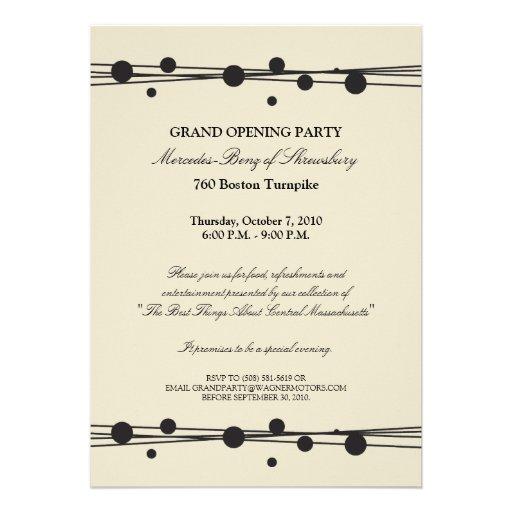 Mercedes-Benz Grand Opening Invitation