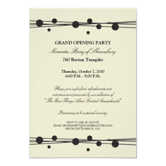Mercedes-Benz Grand Opening Invitation
