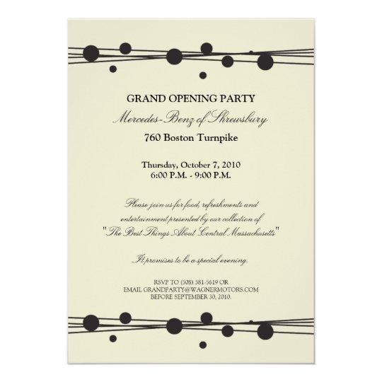 Mercedes-Benz Grand Opening Invitation | Zazzle