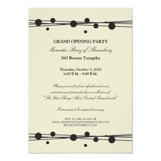 MercedesBenz Grand Opening Invitation – Grand Opening Party Invitations