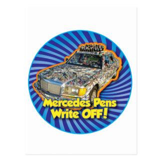 Mercedes Pens is a Write Off Postcard