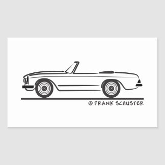 Mercedes SL Pagode Pagoda Kabrio Rectangular Sticker