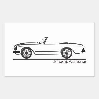 Mercedes SL Pagode Pagoda Kabrio Rectangular Sticker