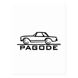 Mercedes SL Pagode with Script Post Cards