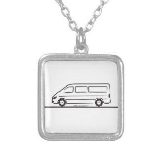 Mercedes Sprinter Silver Plated Necklace
