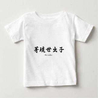 Mercedes translated into Japanese kanji symbols. T Shirt