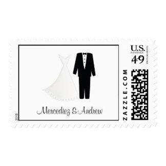 Mercediez & Andrew's Wedding Stamp