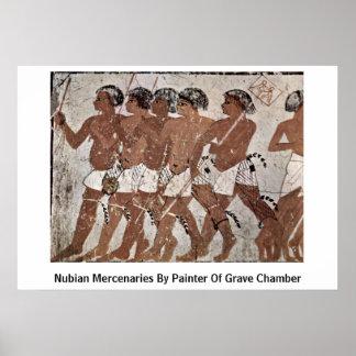 Mercenarios de Nubian del pintor de la cámara grav Posters