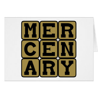 Mercenary, Muscle for Hire Card