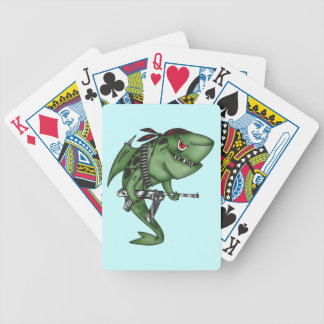 Mercenary Soldier Shark Playing Cards