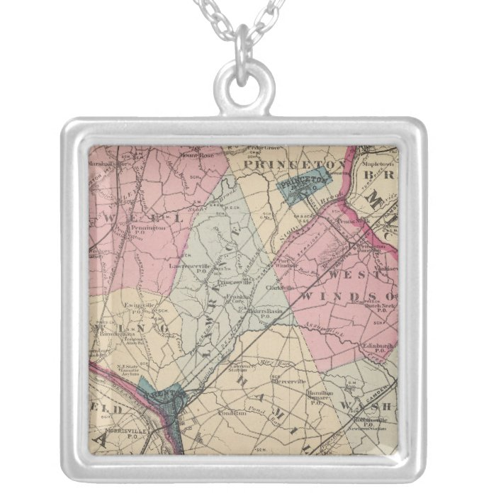 Mercer County, NJ Silver Plated Necklace