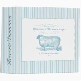Mercerie Bonneterie Sheep 3 Ring Binder