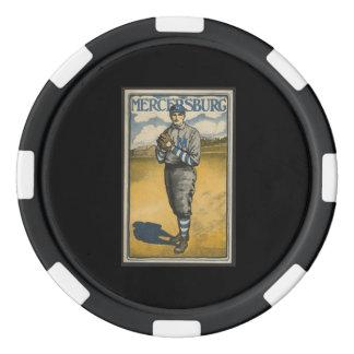 Mercersburg Baseball Set Of Poker Chips