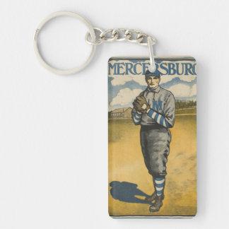 Mercersburg Baseball Single-Sided Rectangular Acrylic Keychain
