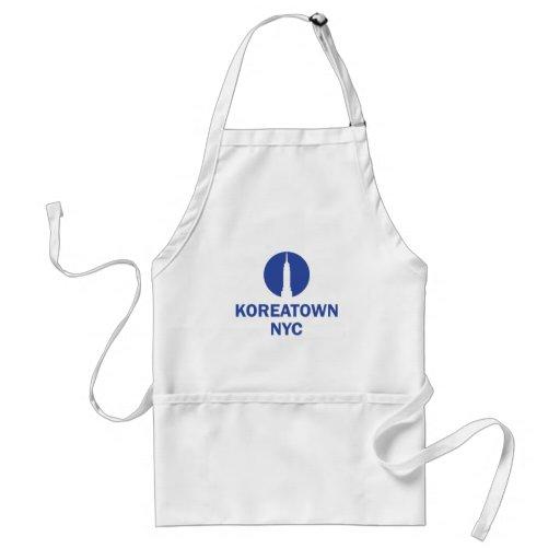 Merch de KOREATOWN NYC (regalo del recuerdo) Delantal