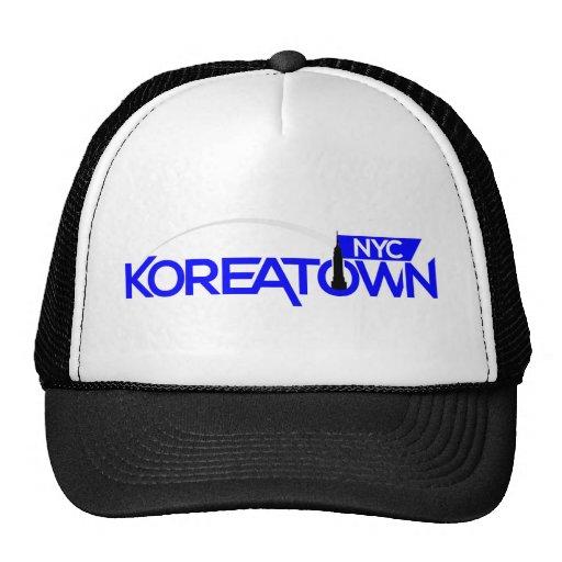 Merch del swag de Koreatown NYC Gorras