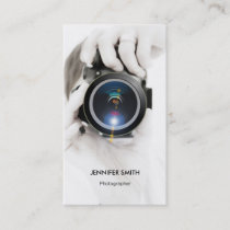 Merchandise Photographer - Chic Elegant Photo Business Card