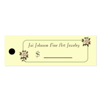 Merchandise Price Tags (Magnolia Flowers) Mini Business Card