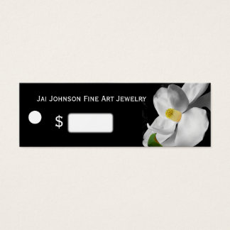 Merchandise Price Tags (Magnolia on Black)