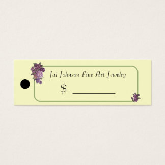Merchandise Price Tags (Purple Flowers)