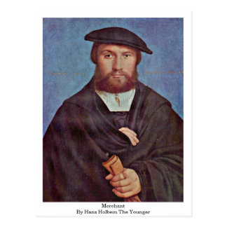 Merchant By Hans Holbein The Younger Postcard