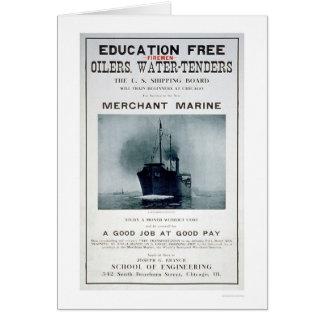 Merchant Marine Recruiting Poster (US02056) Greeting Card