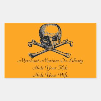 Merchant Mariner Warning Sticker