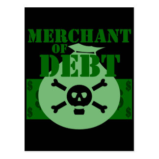 Merchant Of Debt Postcard