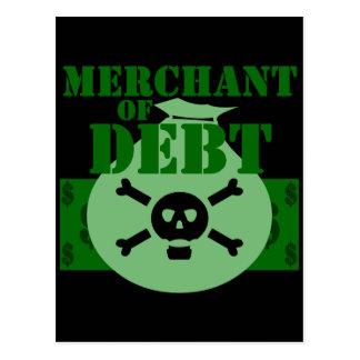 Merchant Of Debt Postcard