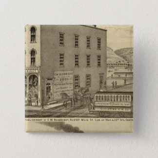 Merchant tailor establishment of CW Seabright Pinback Button