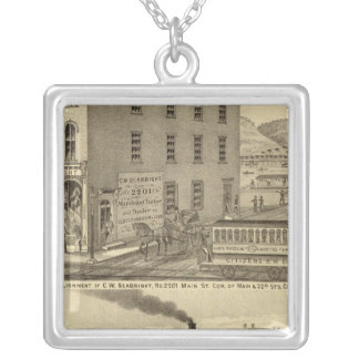 Merchant tailor establishment of CW Seabright Silver Plated Necklace