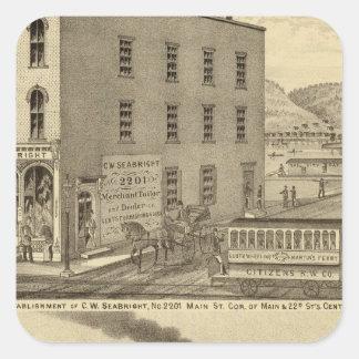 Merchant tailor establishment of CW Seabright Square Sticker