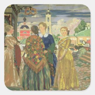 Merchant Women Square Sticker