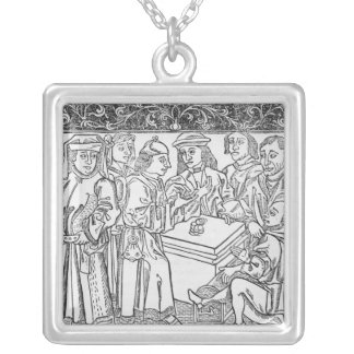 Merchants and Moneylenders Silver Plated Necklace