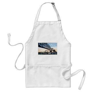 Merchants Bridge, Mississippi River, St. Louis, MO Adult Apron