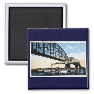 Merchants Bridge, Mississippi River, St. Louis, MO Magnet