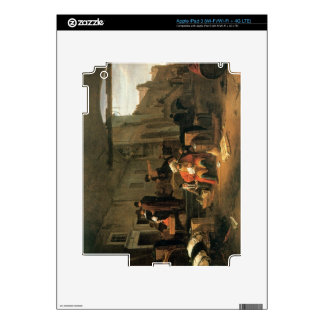 Merchants from Holland and the Middle East trading iPad 3 Skin