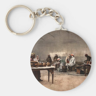 Merchants of eatables, Bona, Algeria vintage Photo Key Chain