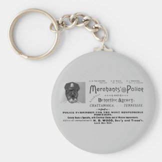 Merchant's Police and Detective Agency Basic Round Button Keychain